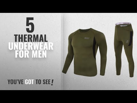 Top 10 Thermal Underwear For Men [2018]: Uniquebella Men's Winter Thermal Underwear Camouflage Set