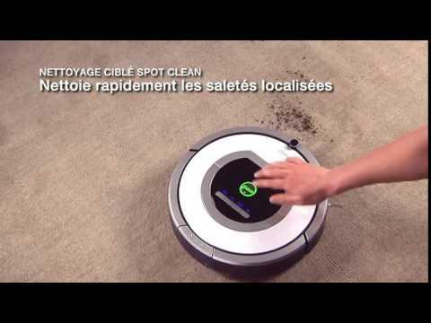 Démonstration de l'aspirateur robot roomba 765