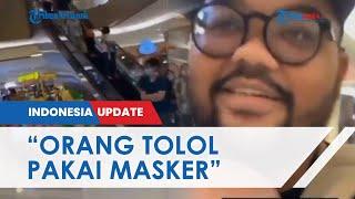 Viral Video Pria Gendong Bayi Maki Pengunjung Bermasker Tolol, Pamer Sekeluarga Tak Pakai Masker