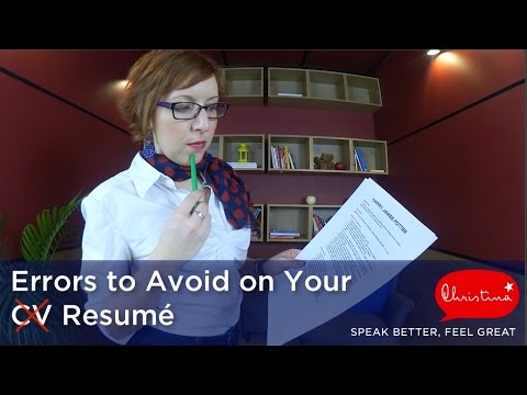 Video Errors to Avoid on Your American Resumé