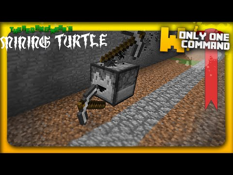 Computercraft's turtle in vanilla minecraft with ONLY ONE COMMAND