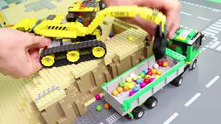 Fire Truck, Trains, Excavator, Tractor & Police Cars Lego Construction Toy Vehicles for Kids