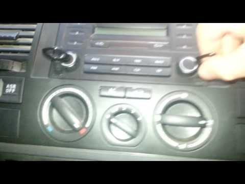 How to remove the  radio from a  VW Transporter