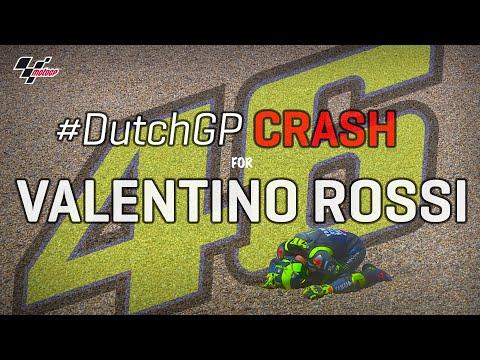 Valentino Rossi's Crash   MotoGP™#DutchGP 2019
