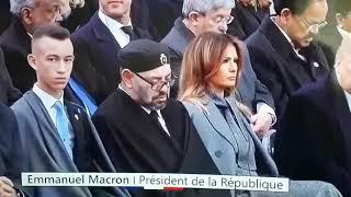 نوم الملك محمد السادس خلال خطاب رئيس فرنسا