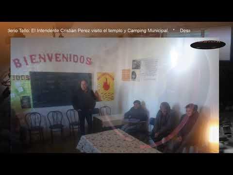 Desiderio Tello: El Intendente Cristian Pérez visito Casa Parroquial de Desiderio Tello y Camping Municipal.