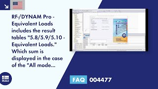 "FAQ 004477 | RF-/DYNAM Pro - Equivalent Loads includes the result tables ""5.8/5.9/5.10 - Equivalent Loads."" Which sum is displayed in the case of the ""All mode shapes"" option?"