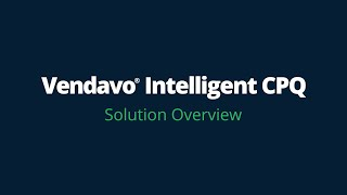 Video di Vendavo CPQ Cloud