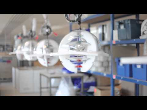YouTube-Video about the VP Globe pendant lamp by Verpan