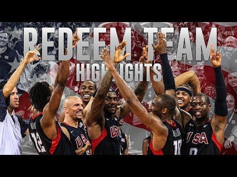 LeBron James, Kobe Bryant, Dwyane Wade Redeem Team Full Highlights (2008)