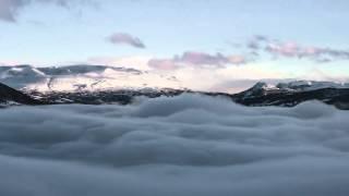 Relaxing Top Mountains. Atmospheric ambience HD. Loop Video