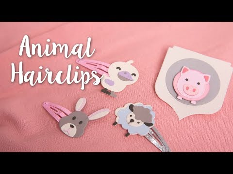 Make these Adorable DIY Animal Hairclips!