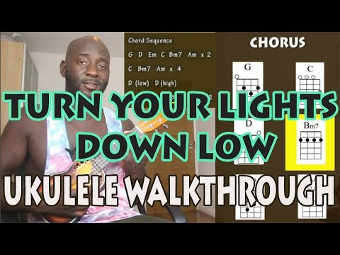 Turn Your Lights Down Low Cover By Bob Marley Lauryn Hill Ukulele