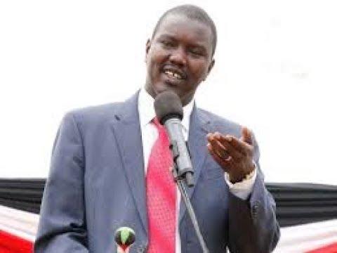 Uasin Gishu governor Jackson Mandago addresses Eldoret residents after the Supreme verdict