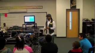 ATL hottest drummer C Breezy drum clinic at renaissance middle