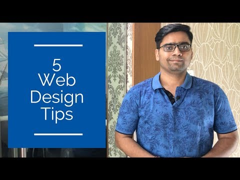 Web Design Tips | 5 things to keep in mind while designing a web page
