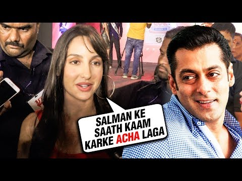 Nora Fatehi REACTION On Working With Salman Khan I