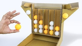 How to make 4 Ball Connect Board Game from Cardboard DIY at HOME
