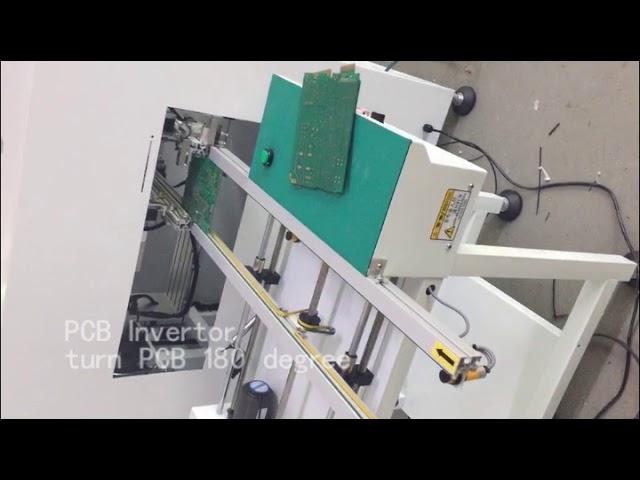 PCB turnover conveyor 180 degree