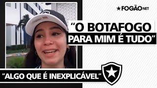 """Torcedora se emociona em Sergipe: """"Botafogo para mim é tudo, me fez sentir algo que é inexplicável"""""""