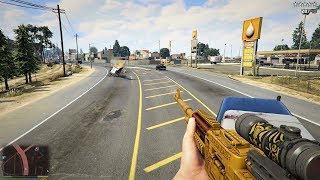 GTA 5 - Michael's FIRST PERSON FIVE STAR BUS RAMPAGE!! (GTA V Funny Moment)