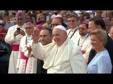 Les premiers instants du pape au Panama