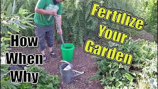 How To Fertilize Your Garden The Correct Way | How, When & Why?