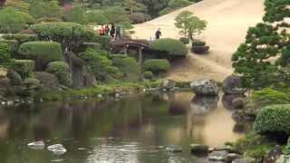 高画質水前寺成趣園と出水神社熊本観光スポットR¡i¡/KumamotoSightseeingSuizenji