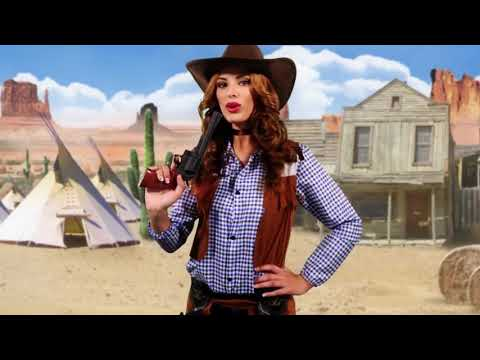 Disfraz Vaquera del Oeste para adulta