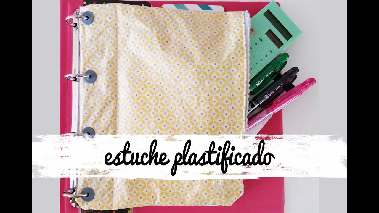 Cómo hacer estuche de tela plastificada. Tutorial paso a paso