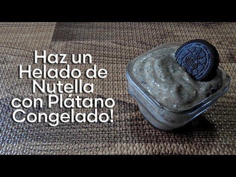 Como Hacer un Helado de Nutella con Plátanos Congelados