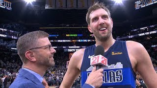 Dirk Nowitzki's FINAL Postgame Interview - Mavericks Vs Spurs | April 10, 2019 | 2018-19 NBA Season
