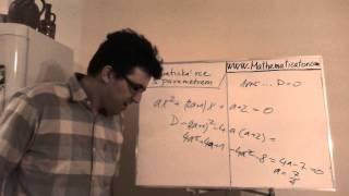 Rovnice s parametrem - Kvadratická - určete hodnotu parametru aby měla jedno řešení
