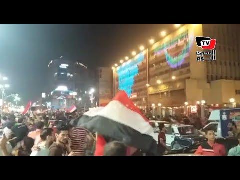 طنطا| بالأعلام المئات يحتفلون أمام مبنى محافظة الغربية بتأهل المنتخب للمونديال