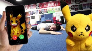 CALLING PIKACHU ON FACETIME AT 3 AM!! (ELECTROCUTED)