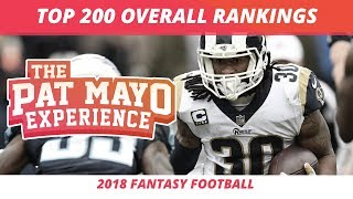2018 Fantasy Football Rankings: Top 200 Overall Players, Sleepers and Draft Strategy