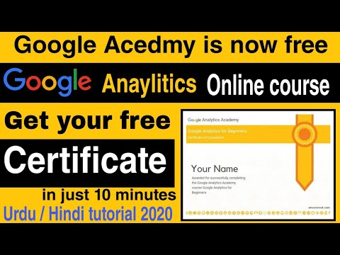 How To Get Google Analytics Certification   Google Free Certificate ...