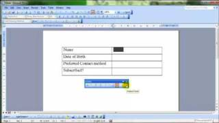 AM 3.3.2.1 forms and form fields Microsoft Word 2003