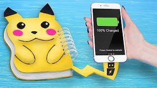 9 Fun DIY Pokemon School Supplies / School Pranks And Life Hacks