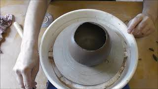 Coil Pottery Bowl With Curved Sides Shaped With A Mini CD Part 3