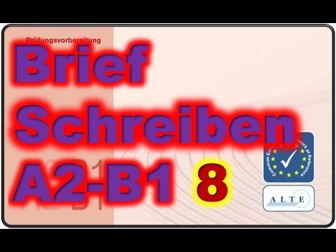 Brief Schreiben A2 B1 12032019 смотретьскачать