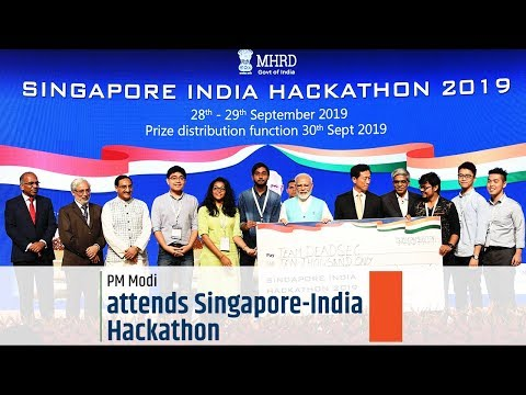PM Modi attends Singapore-India Hackathon