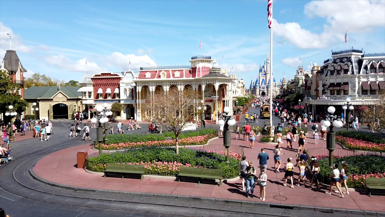 Magic Kingdom Town Square timelapse