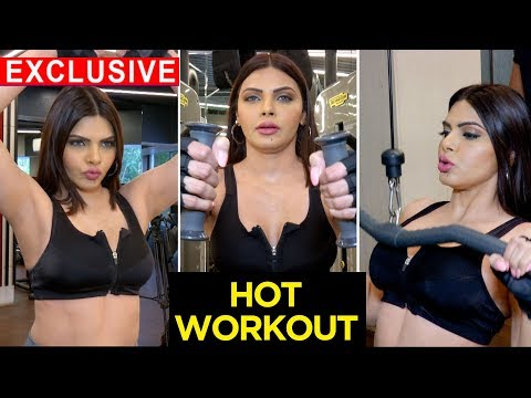 Sherlyn Chopra SUPERH0T GYM Workout Session