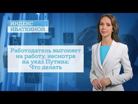 Работодатель выгоняет на работу, несмотря на указ Путина: Что делать
