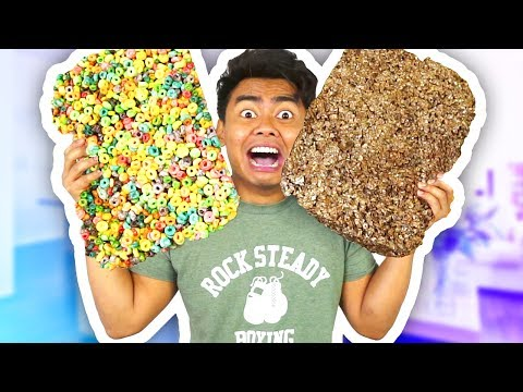 DIY GIANT CEREAL RICE KRISPIES! How To Make Rice Kripies Cereal Fun & Easy!