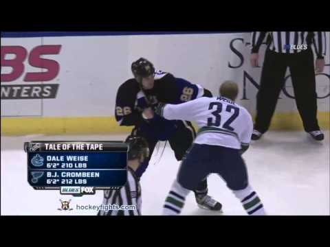 B.J. Crombeen vs. Dale Weise