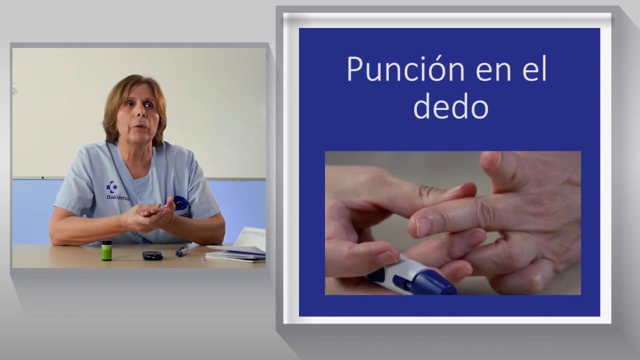 Vídeo sobre Diabetes. Determinación de Glucemia Capilar