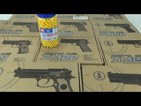 Cамый мощный игрушечный пневматический пистолет из серии ZM