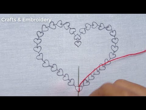 Latest Heart Embroidery Tutorial, Easy Hand Embroidery, Simple Love Embroidery design